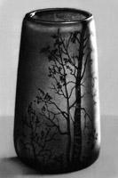 Ваза Э. Галле. Многослойное стекло, резьба, 1900 г